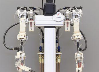 A Hybrid Hydrostatic Transmission and Human-Safe Haptic Telepresence Robot